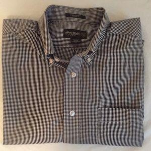 Eddie Bauer Gingham Oxford Long-Sleeve Shirt L